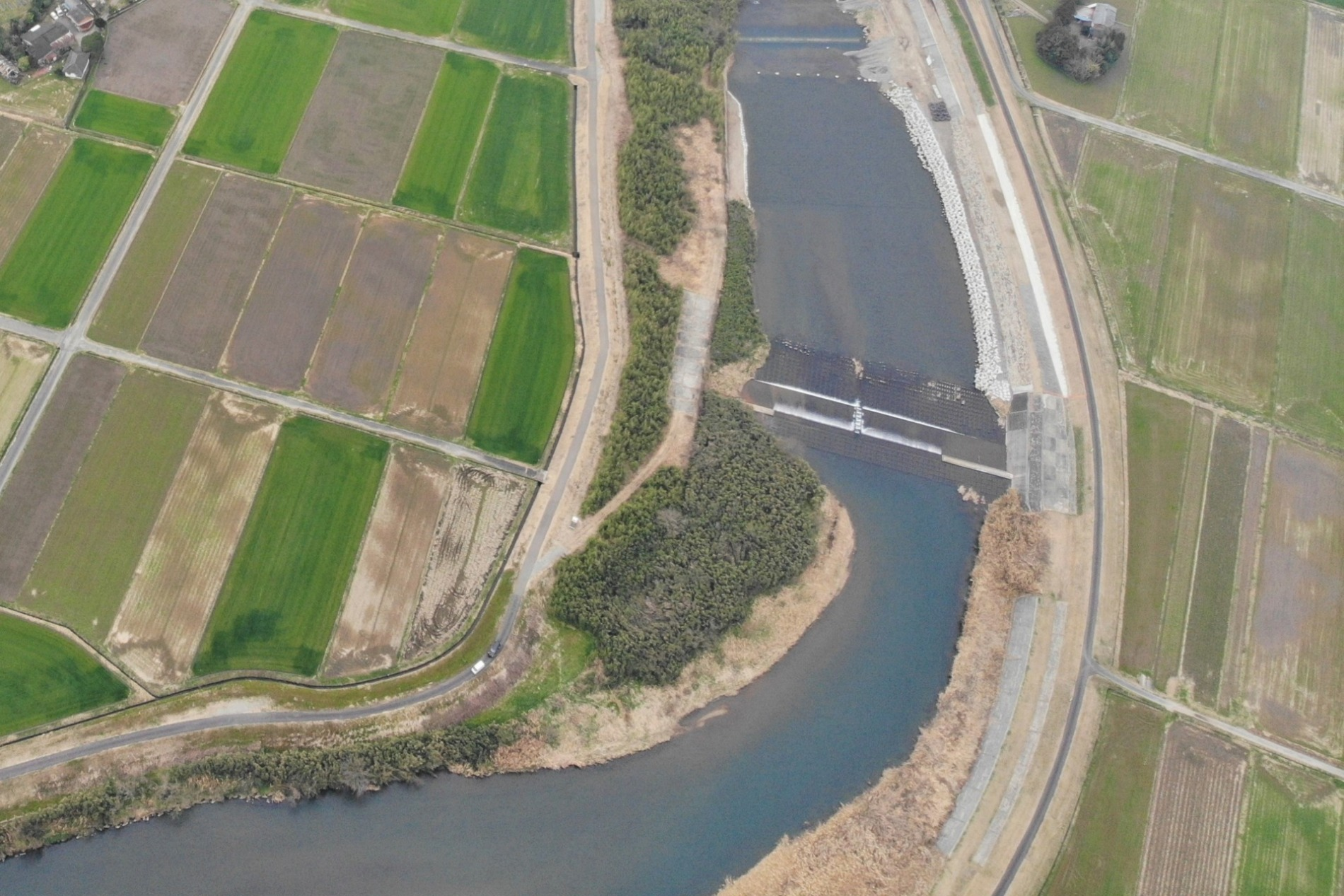 今西地区河道整備工事着手前