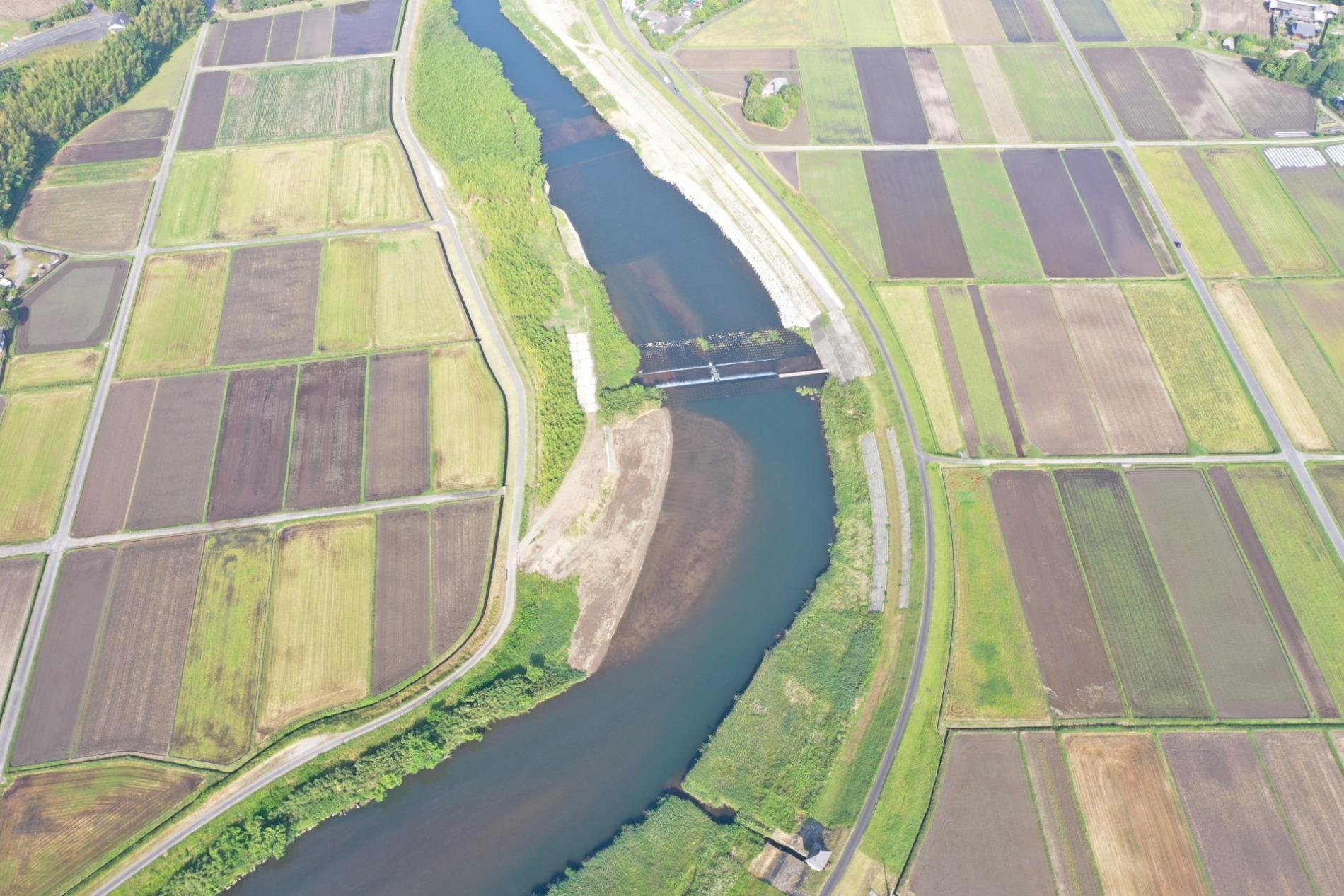 今西地区河道整備工事完成