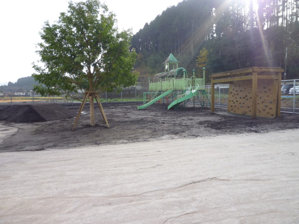 まがた保育園保護者送迎用駐車場及び園庭取得整備事業
