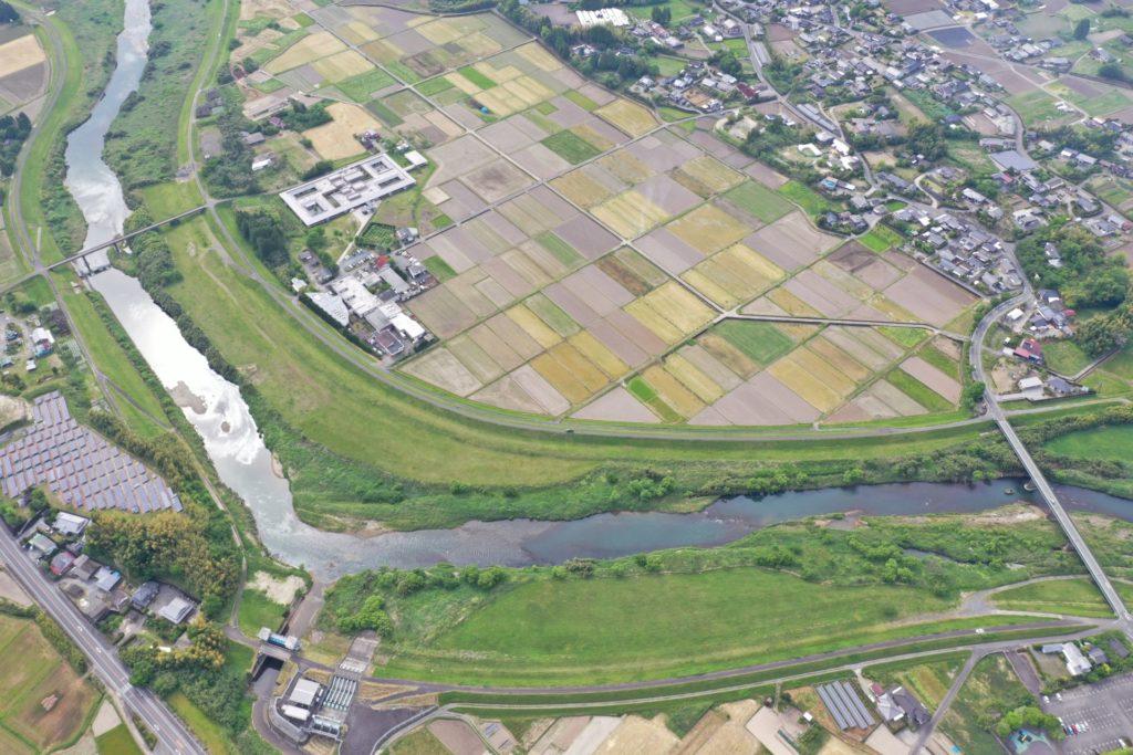 岡松地区下流河道掘削工事着手前