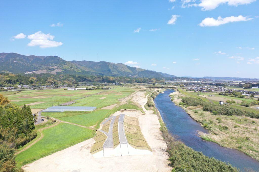 南岡松地区堤防強化外工事完成