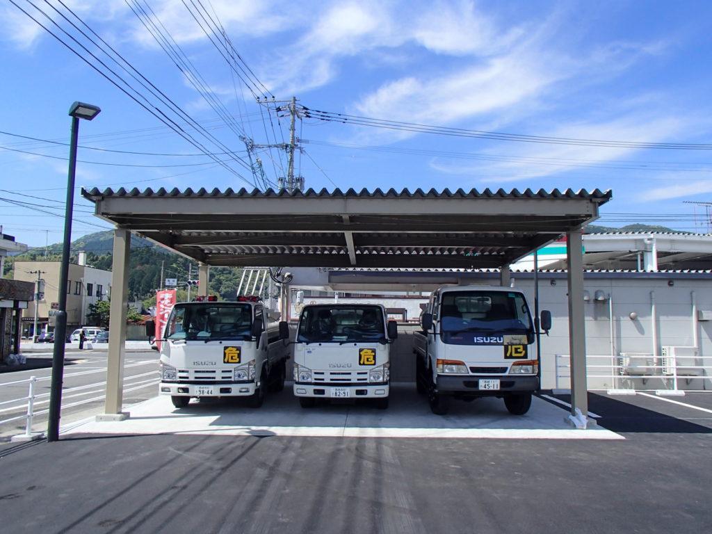 JAえびの市飯野支店新築工事【 車 庫 】