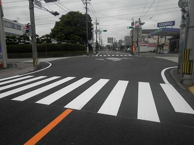 一般国道221号 細野工区 舗装補修工事【市役所入口 交差点から起点方向】