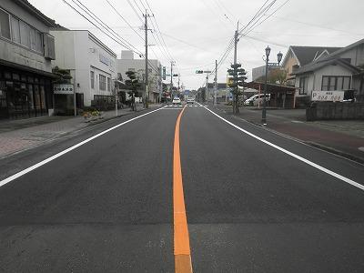 一般国道221号 細野工区 舗装補修工事【終点: 元日田家具店前付近】