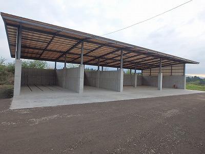 肥育牛舎・堆肥舎建設工事【堆肥舎】