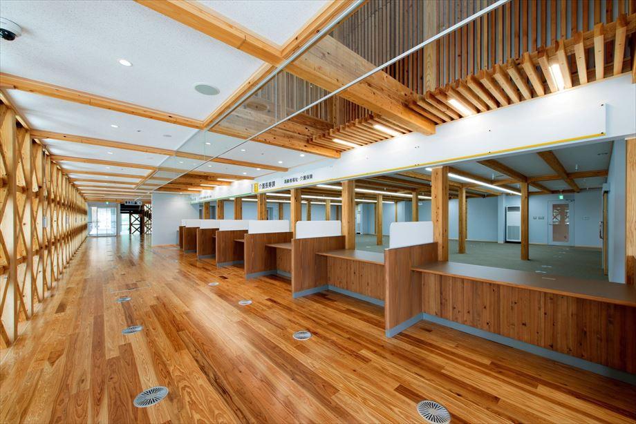 小林市新庁舎議会棟新築建築主体工事【1階 エントランス】