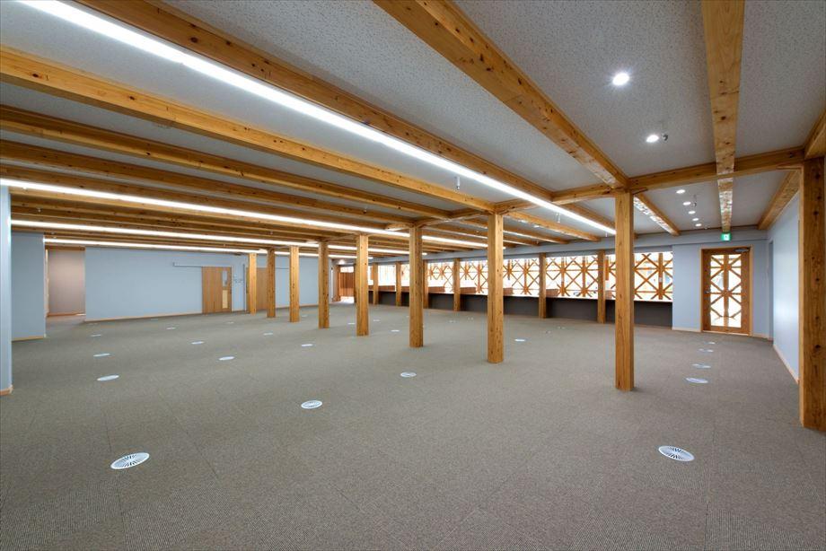 小林市新庁舎議会棟新築建築主体工事【1階 執務室】
