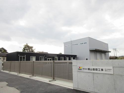 (株)横山基礎工事南九州営業所 工場新築工事【正門より全体】