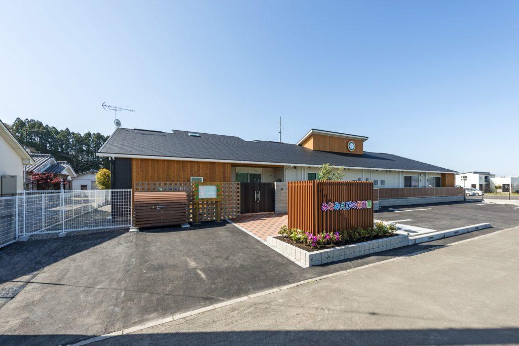 みなみえびの保育園新築工事外観 北東面