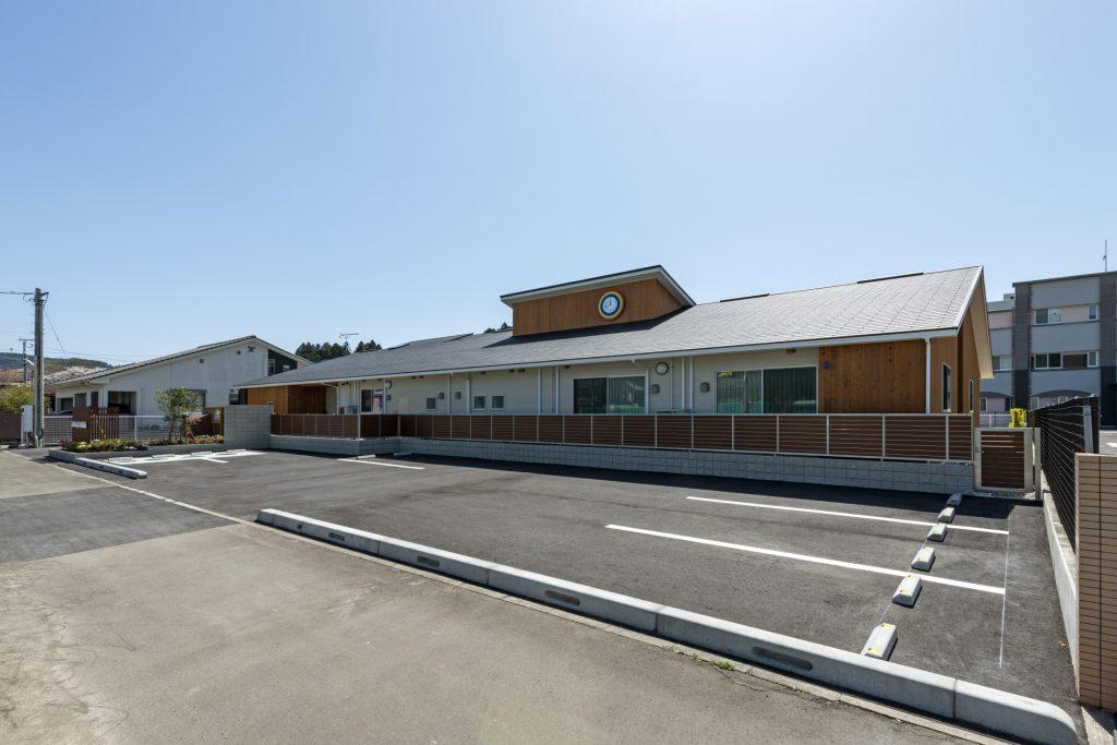 みなみえびの保育園新築工事外観 北西面