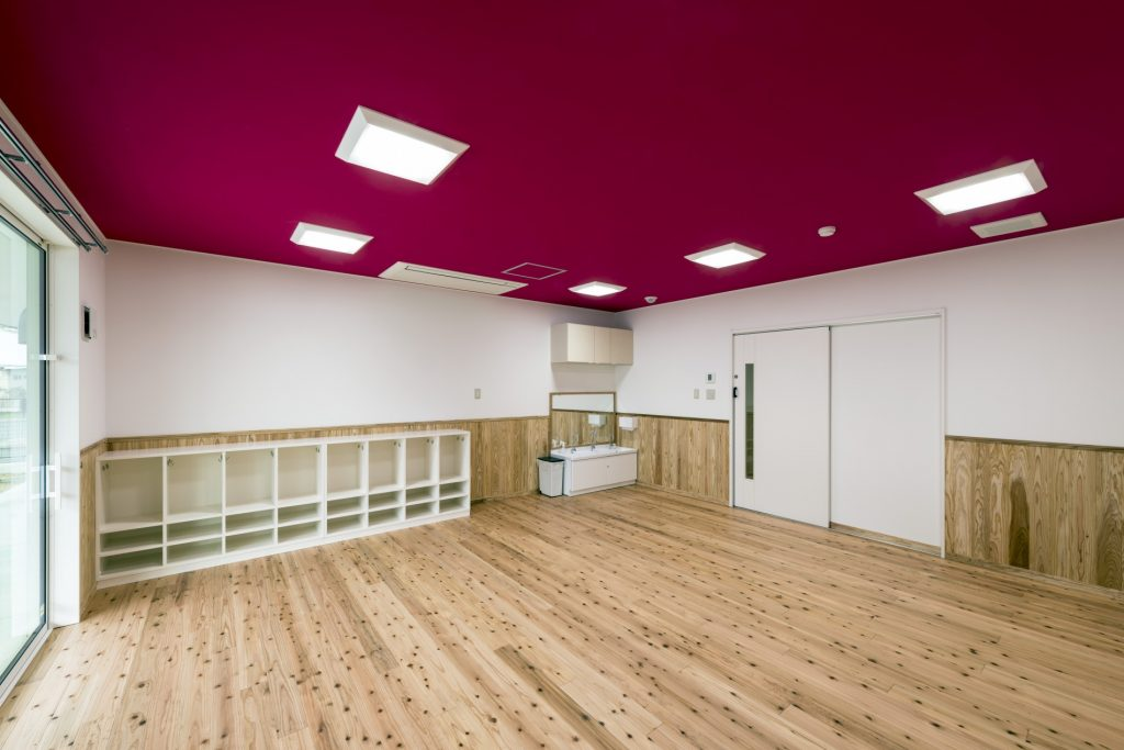 みなみえびの保育園新築工事1歳児保育室