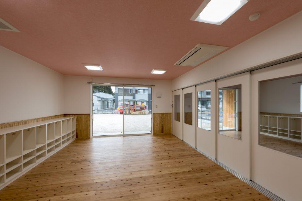 みなみえびの保育園新築工事5歳児保育室